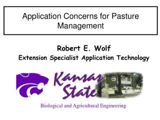 Application Concerns for Pasture Management