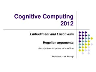 Cognitive Computing 2012