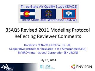 Three-State Air Quality Study (3SAQS) Three-State Data Warehouse (3SDW)
