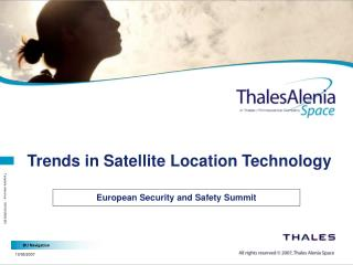 Trends in Satellite Location Technology