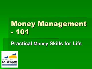 Money Management - 101