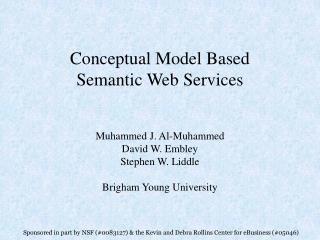 Conceptual Model Based Semantic Web Services