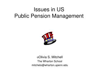 Issues in US  Public Pension Management