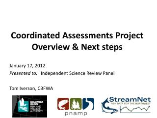 Coordinated Assessments Project Overview & Next steps