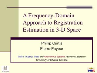 A Frequency-Domain Approach to Registration Estimation in 3-D Space