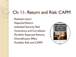 Ch: 11- Return and Risk: CAPM
