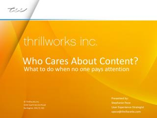 Who Cares About Content? - CALL Conference 2012