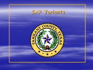 SAP Variants