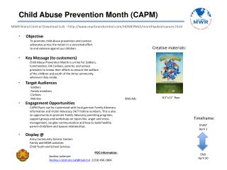 Child Abuse Prevention Month (CAPM)