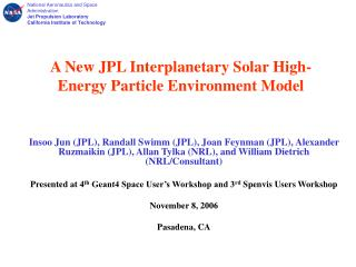 A New JPL Interplanetary Solar High-Energy Particle Environment Model