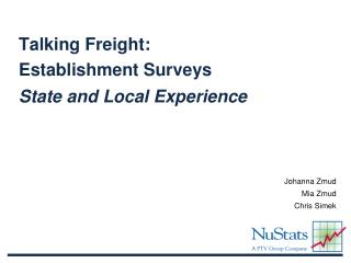 Talking Freight:   Establishment Surveys