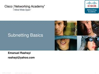 Subnetting Basics