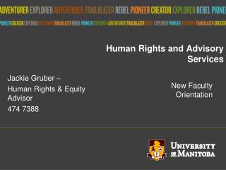 Human Rights and Advisory Services
