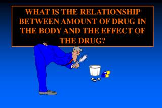 WHAT IS THE RELATIONSHIP BETWEEN AMOUNT OF DRUG IN THE BODY AND THE EFFECT OF THE DRUG?