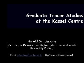 Graduate Tracer Studies at the Kassel Centre