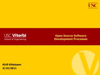 Open Source Software Development Processes
