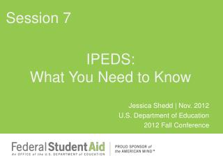 IPEDS: What You Need to Know