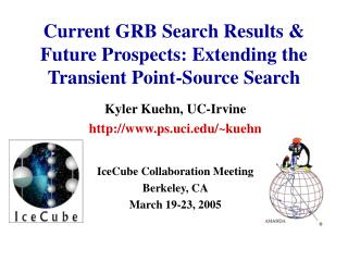 Current GRB Search Results &  Future Prospects: Extending the Transient Point-Source Search