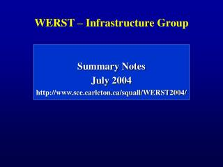 WERST – Infrastructure Group