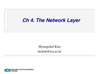 Ch 4. The Network Layer