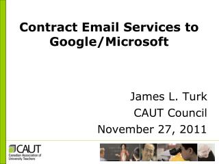 Contract Email Services to Google/Microsoft