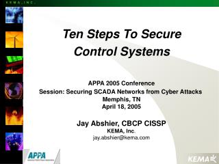 Ten Steps To Secure Control Systems