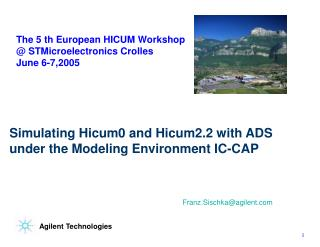 Simulating Hicum0 and Hicum2.2 with ADS under the Modeling Environment IC-CAP