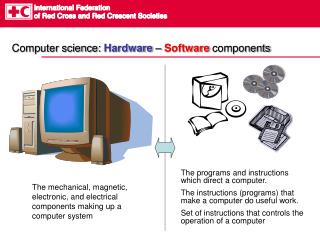 Computer science:  Hardware  –  Software  components