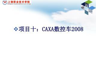 项目十: CAXA 数控车 2008