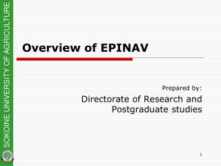 Overview of EPINAV