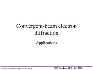 Convergent-beam electron diffraction
