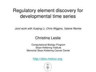 Regulatory element discovery for developmental time series