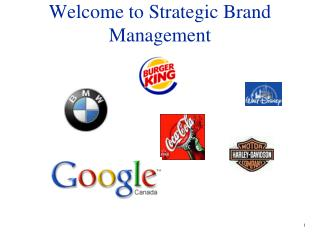 Welcome to Strategic Brand Management