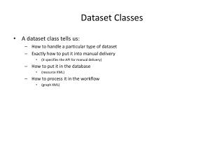 Dataset Classes