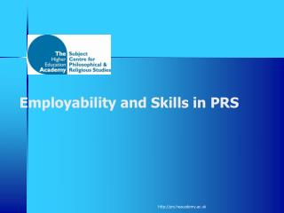 Employability and Skills in PRS