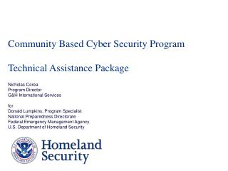 Community Based Cyber Security Program Technical Assistance Package