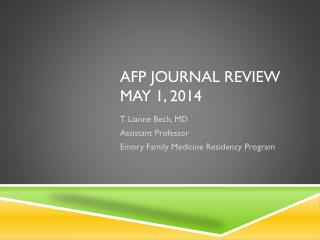 AFP Journal Review May 1, 2014