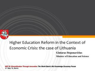 Higher Education Reform in the Context of Economic Crisis: the case of Lithuania