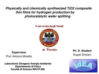 Physically and chemically synthesized TiO2 composite