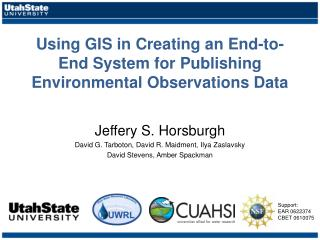 Using GIS in Creating an End-to-End System for Publishing Environmental Observations Data