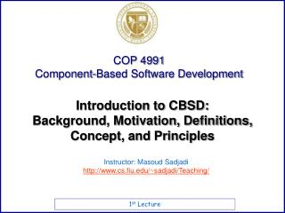 Introduction to CBSD: Background, Motivation, Definitions, Concept, and Principles