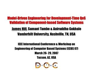 Model-Driven Engineering for Development-Time QoS Validation of Component-based Software Systems