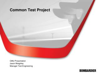 Common Test Project