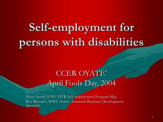 Self-employment for persons with disabilities