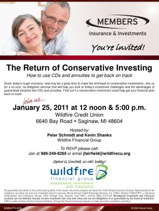 The Return of Conservative Investing How to use CDs and annuities to get back on track
