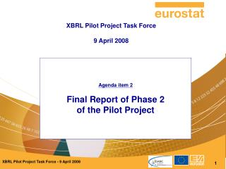 Agenda item 2 Final Report of Phase 2  of the Pilot Project