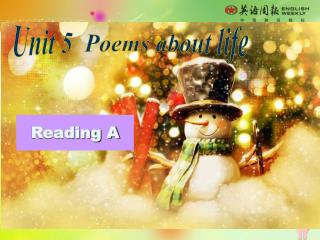 Unit 5  Poems about life