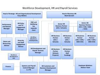 Workforce Development, HR and Payroll Services