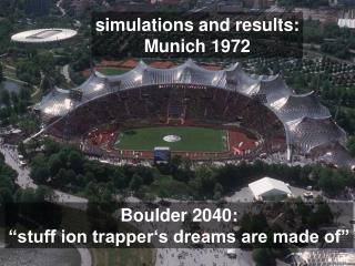 simulations and results: Munich 1972
