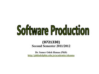 Software Production